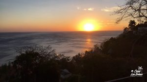 A view of the Costa Rican sunset at Casa Las Brisas in Flamingo Costa Rica. One of the most popular vacation spots in costa rica.