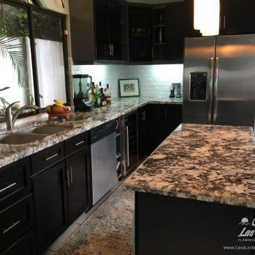 Casa Las Brisas Costa Rica features a large kitchen perfect for large groups looking for a bungalow costa rica vacation