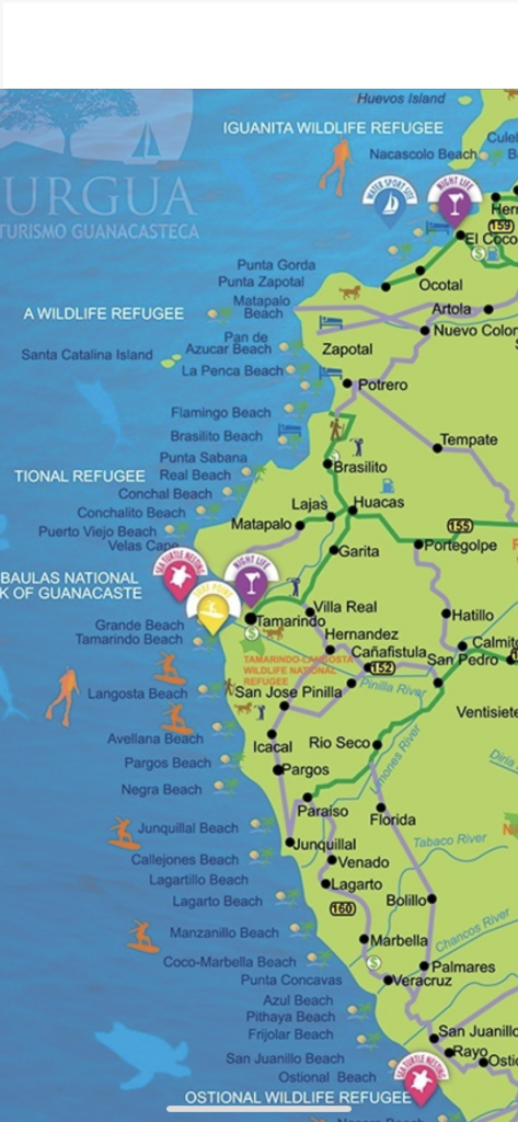Map of Guanacaste