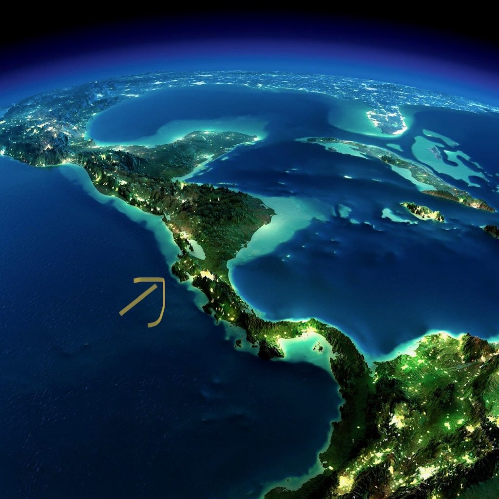Satellite Photo of Central America